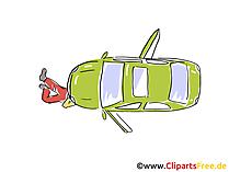 Auto analyse, reparatie clipart, afbeelding, grafisch, cartoon, gratis illustratie