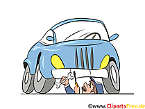 Kfz-Reparatur, Autowerkstatt Bild, Illustration, Clipart, Cartoon gratis