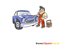 Car Service Clipart, Afbeelding, Grafisch, Cartoon, Illustratie gratis