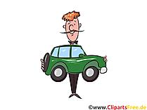 Leasingauto clipart, grafisch beeld, illustratie