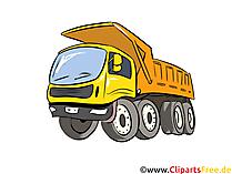 Kamyon damperli kamyon illüstrasyon, resim, küçük resim arabalar