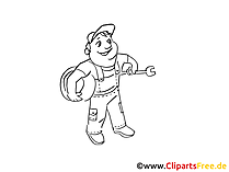 Maintenance man clip art, graphic, pic, cartoon, comic free