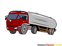 Milch-LKW Illustration, Bild, Clipart Autos