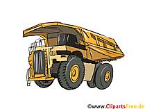 Minenfahrzeug Illustration, Bild, Clipart Autos