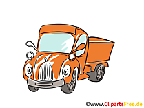 Pick Up Auto Bild, Clipart