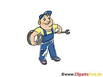 Bandenservice clipart, afbeelding, grafisch, cartoon, gratis illustratie