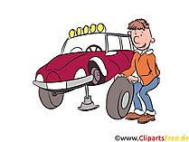 Tire veranderen afbeelding, illustratie, clipart, cartoon gratis