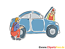 Reifeund Autoservice Clipart, Bild, Grafik, Cartoon, Illustration gratis