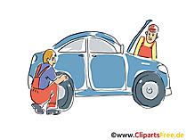 Rijp en auto dienst clipart, afbeelding, grafisch, tekenfilm, gratis illustratie