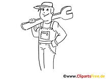 Tamirci küçük resim, grafik, resim, çizgi film, komik ücretsiz