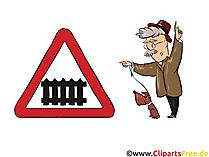 Straßenschild Bahnübergang - Witzige Bilder mit Strassenschildern