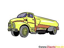 タンクトラックのイラスト、画像、クリップアート車