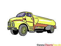 Tankwagen illustratie, afbeelding, clipart auto's
