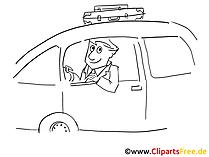 Triven met de auto illustraties zwart en wit, grafisch, foto
