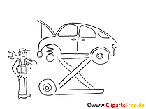 Vehicle repair clip art, graphic, pic, cartoon, comic free