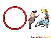 Verkehrsschild Verbot für Fahrzeuge aller Art - witzige Bilder mit Verkehrsschildern