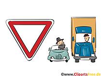 Verkehrsschild Vorfahrt gewähren - Lustige Bilder mit Verkehrsschildern