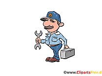 Werkstattmeister Bild, Illustration, Clipart, Cartoon gratis