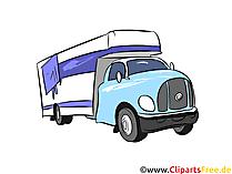 Wohnwagen Illustration, Bild, Clipart Autos