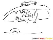 Vrouwen rijden auto clip art, grafisch, pic, cartoon, komisch