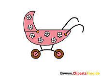 Clipart çocuk arabası
