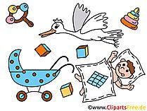 漫画の赤ちゃん-幼稚園の無料画像