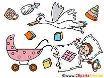 Ontwerp kaarten voor de geboorte zelf