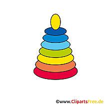 Speelgoedpiramide voor kinderen