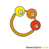 Kind rammelaar afbeelding - vector illustraties