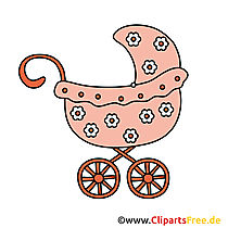 Kinderwagen Bild - Clipart