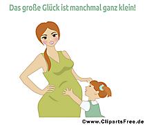Schwangerschaft Sprüche mit Bildern
