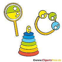 おもちゃのクリップアート画像