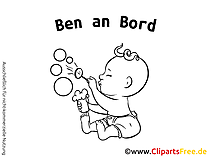 Aufkleber Baby mit unseren Cliparts selber gestalten