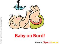 Aufkleber selber machen Baby on Bord mit unseren Cliparts