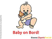 Aufkleber selbst gestalten Baby on Bord mit unseren Cliparts