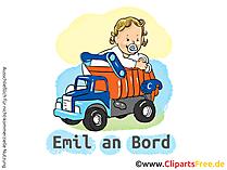 Autoaufkleber Baby an Bord selbst gestalten