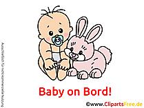Autoaufkleber Baby an Bord selbst gestalten mit unseren Cliparts