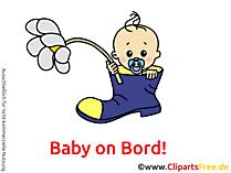 Autoaufkleber selber gestalten mit unseren Baby Cliparts