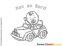 Baby an Board Aufkleber selbst gestalten mit unseren Cliparts