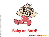 Baby an Bord Aufkleber mit unseren Cliparts selbst machen