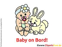 Baby an Bord Aufkleber selbst gestalten