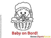 Baby An Bord selbst machen mit unseren Grafiken