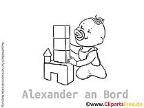 Baby Autosticker selbst gestalten mit unseren Cliparts