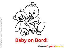 Baby Clip Art black and white