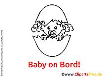 Baby Clipart schwarz-weiss