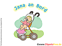 Baby im Kinderwagen Clipart, Bild, Cartoon