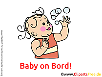 Baby in Badewanne Bild, Cartoon, Grafik, Clipart