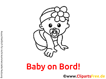 Baby mit Nuckel Clipart, Cartoon, Bild
