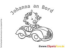 Baby on Board Aufkleber kostenlos selbt gestalten