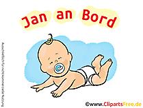 Baby on Board Aufkleber selbst gestalten mit unseren Cliparts